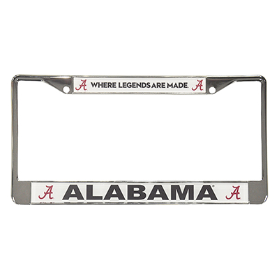Where Legends Are Made License Plate Frame