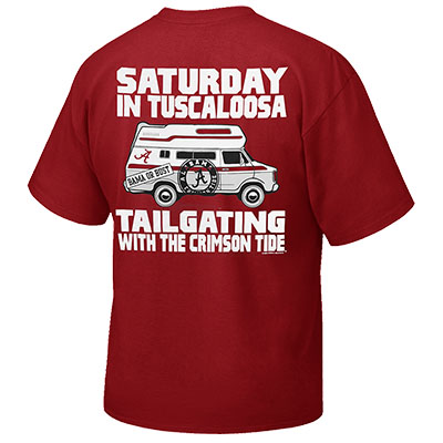 ALABAMA SATURDAYS IN TUSCALOOSA TAILGATING T-SHIRT