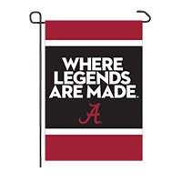 WHERE LEGENDS ARE MADE 2-SIDED GARDEN FLAG