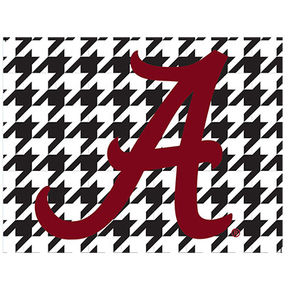 Houndstooth With Red Script A Multi Use Decal