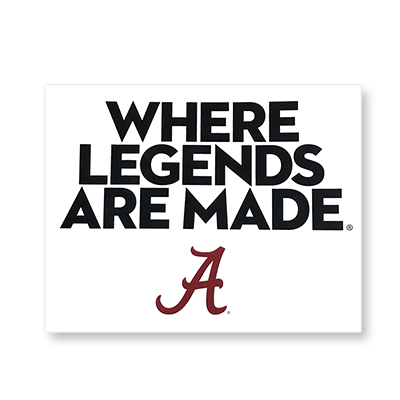Where Legends Are Made White Decal
