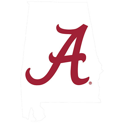 State Of Alabama With Script A Decal