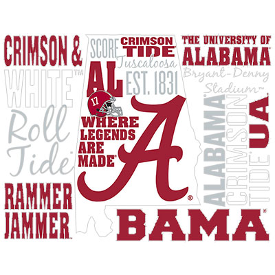 Alabama Phrases Decal