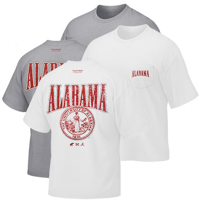 University Of Alabama Seal Vintage Crest T-Shirt