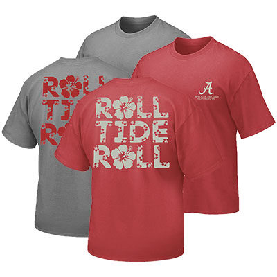 Roll Tide Roll Hibiscus T-Shirt
