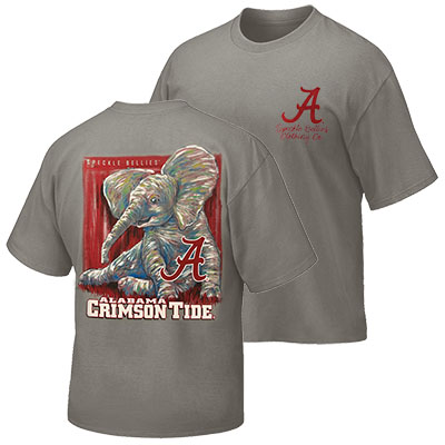 Alabama Crimson Tide Watercolor Elephant T-Shirt