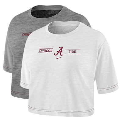 Script A Crimson Tide Slub Crop Top