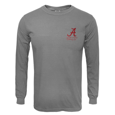 ALABAMA CRIMSON TIDE WATERCOLOR ELEPHANT LONG SLEEVE T-SHIRT