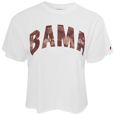 Bama Tye Dye Clothesline Cotton Crop T-Shirt