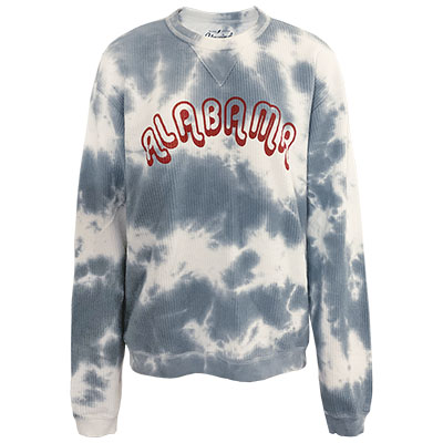 Alabama Timber Tye Dye Corded Crew Sweatshirt