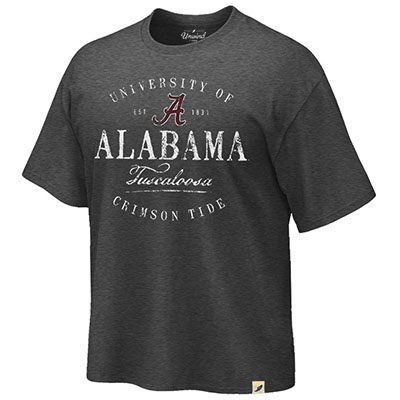The University Of Alabama Crimson Tide Script A Burnout Crewneck T-Shirt