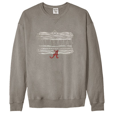 Alabama Over Script A Comfort Wash Sweatshirt