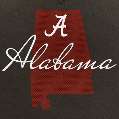 SCRIPT A ALABAMA CRIMSON TIDE SWEATSHIRT