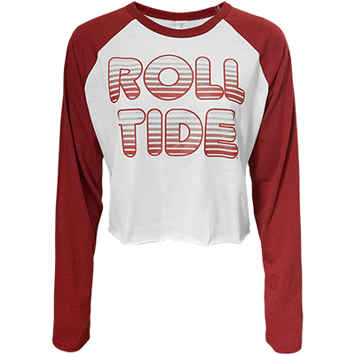Roll Tide Gradiant Long Sleeve Crop Top