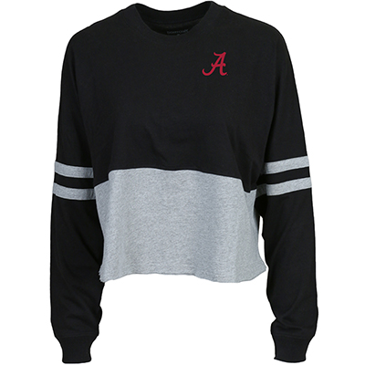 Script A With Bama On Back Cropped Retro Jersey Shirt