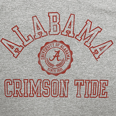 ALABAMA CRIMSON TIDE BOYFRIEND CROP TOP