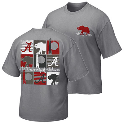 The University Of Alabama Campus Color Squares T-Shirt