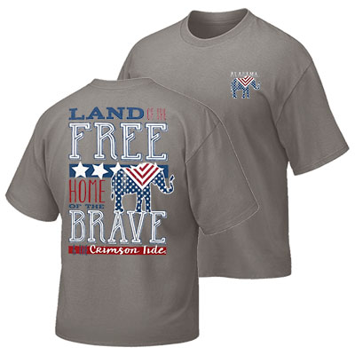 Script A Crimson Tide Land Of The Free T-Shirt