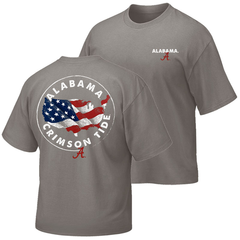 Alabama Crimson Tide Sketch U.S.A. T-Shirt (SKU 13442712102)