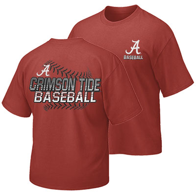 The University Of Alabama Baseball Laces And Stripes T-Shirt