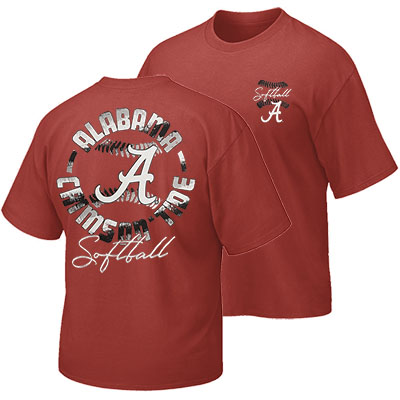 Alabama Crimson Tide Color Stripe Softball T-Shirt