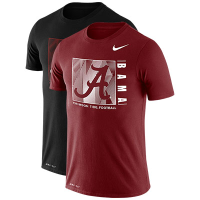 Bama Script A Crimson Tide Football Drifit Team Issue T-Shirt