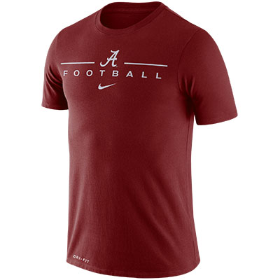SCRIPT A OVER FOOTBALL DRI-FIT COTTON ICON WORD T-SHIRT