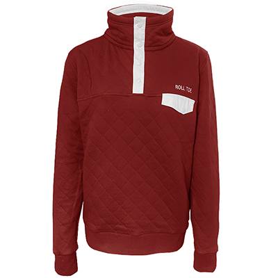 Roll Tide Quilted Snap Placket