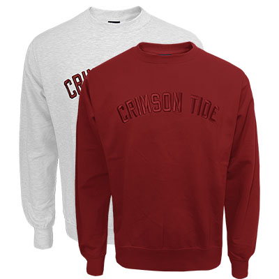 Crimson Tide 3D Tonal Embroidery Fundamental Crew Fleece