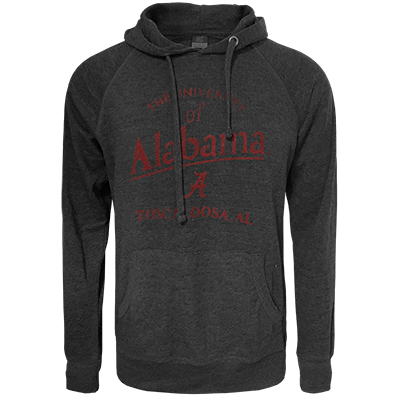 The University Of Alabama Script A Over Tuscaloosa Carson Burnout Thermal Hoodie