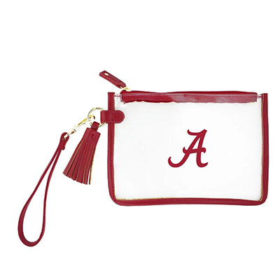 Alabama Clear Wristlet With Tassel