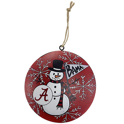 Bama Snowman Metal Ornament With Gift Box