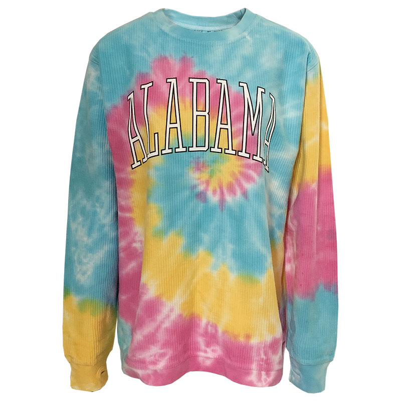Alabama Rainbow Tye Dye Corded Crew (SKU 1345433343)