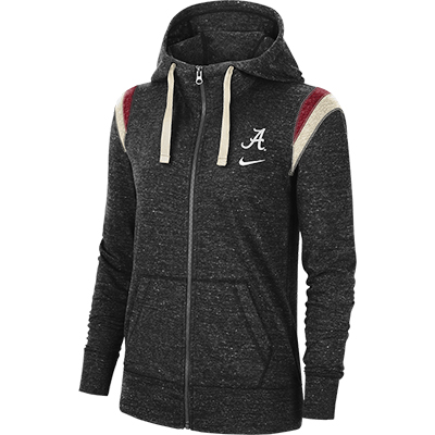 Alabama Script A Full Zip Gym Vintage Hoodie
