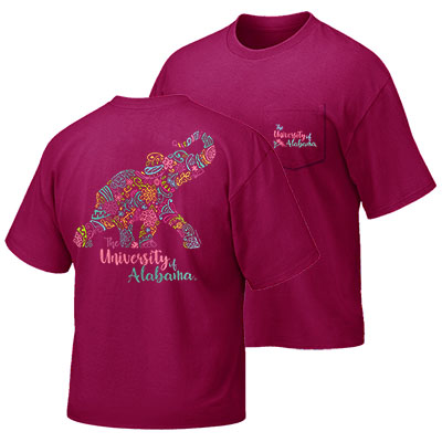 The University Of Alabama Blooming Elephant T-Shirt