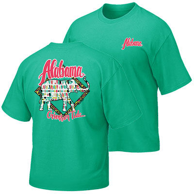 Alabama Crimson Tide Cheetah Diamond T-Shirt