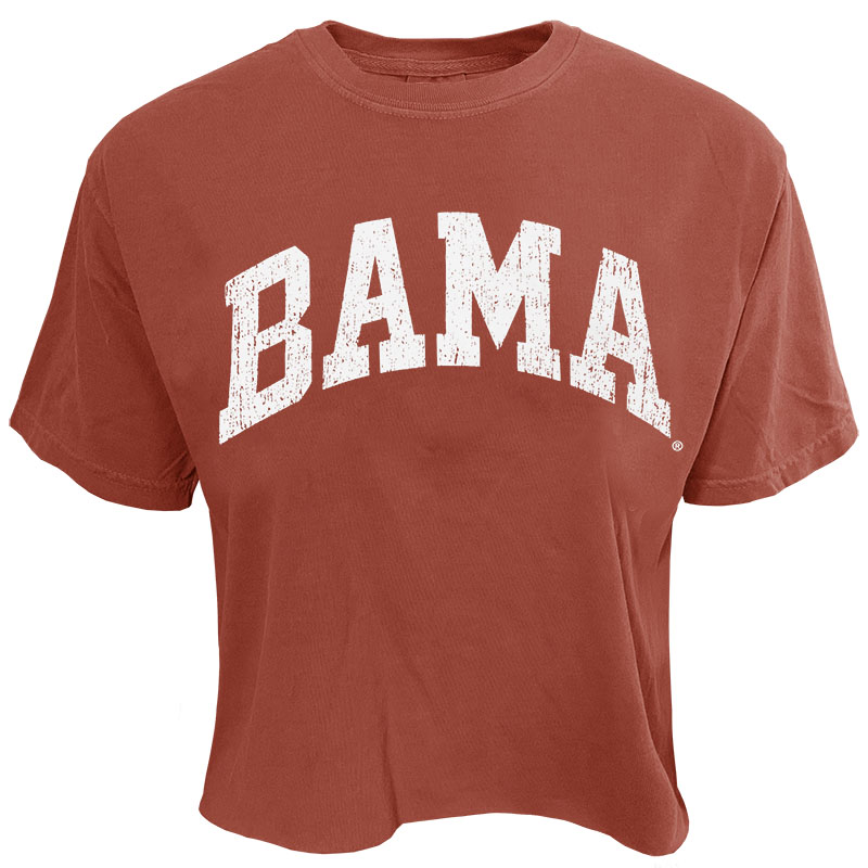 Bama Distressed Arch Crop T-Shirt