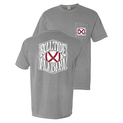 Alabama Flag Football Roll Tide Pocket T-Shirt