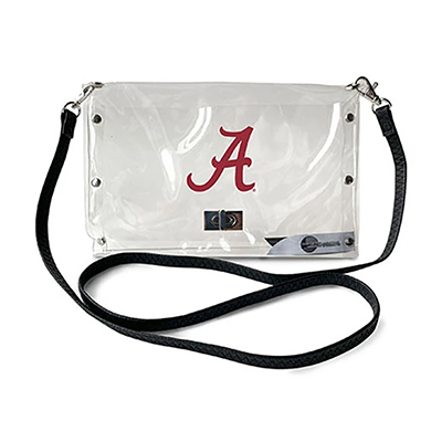 Alabama Clear Envelope Purse With Strap
