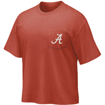 TUSCALOOSA WELCOME TO TITLE TOWN POCKET T-SHIRT