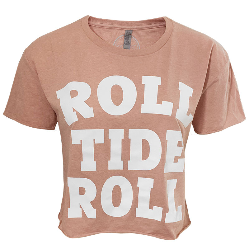 Alabama Roll Tide Roll Good Vibes Crop Top