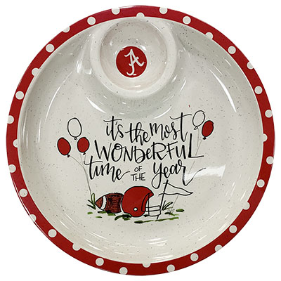 It's The Most Wonderful Time Of The Year Alabama Melamine Chip And Dip Tray