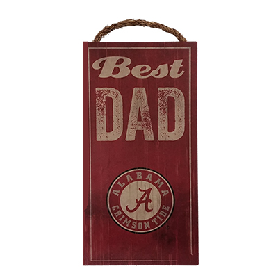 Alabama Best Dad Wood Sign With Script A