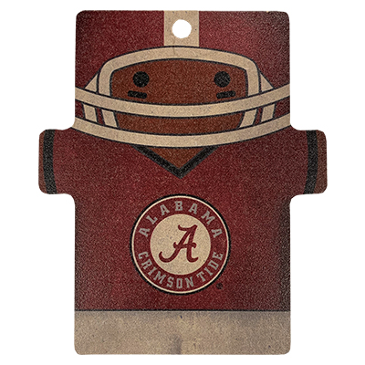 Alabama Gingerbread Football Player Wood Ornament