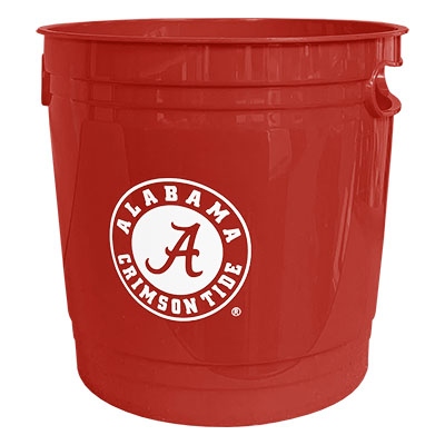 Alabama Plastic Party Bucket With Circle Logo