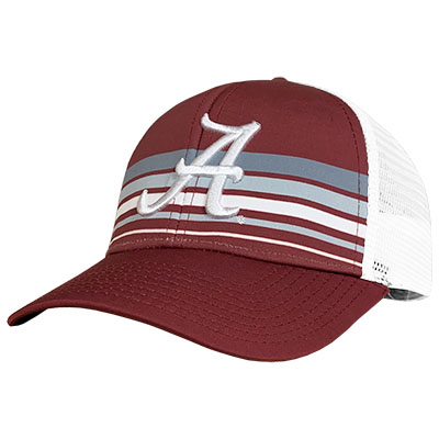 Alabama Script A With Sublimated Stripes Cap