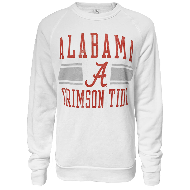 Alabama Crimson Tide Script A The Champ Eco Fleece Crew (SKU 1346811843)