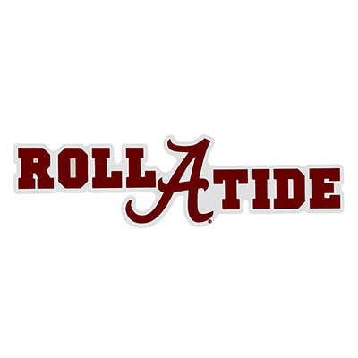 Alabama Roll Tide With Script A Decal