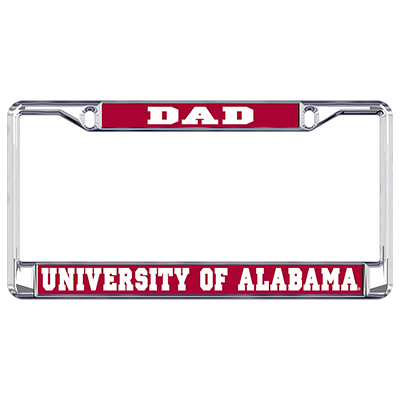 Alabama Dad Metal Domed Plate Frame