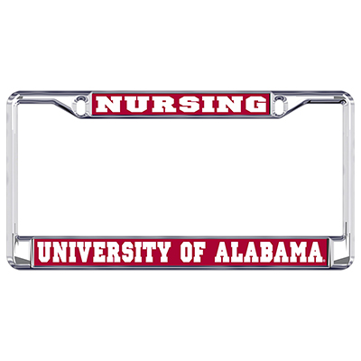 Alabama Nursing Metal Domed Plate Frame